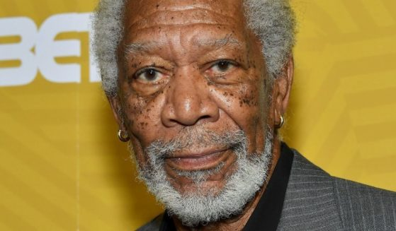 Actor Morgan Freeman is seen backstage during the American Black Film Festival Honors awards ceremony at the Beverly Hilton Hotel in Beverly Hills, California, on Feb. 23, 2020.