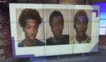 Carjacking suspects Jabez Clark, Korey Richardson and Jacob Land are pictured in their mugshots.