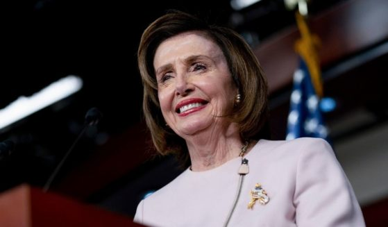 Speaker of the House Nancy Pelosi gives her weekly news conference on Capitol Hill on Thursday.