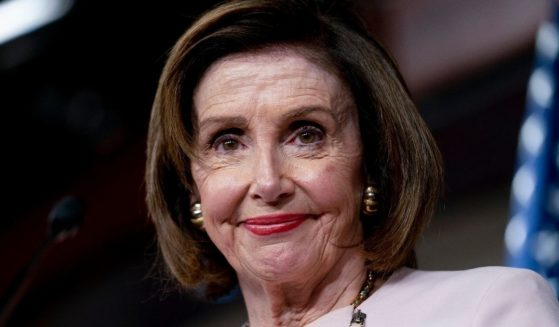 House Speaker Nancy Pelosi gives her weekly news conference on Capitol Hill on Thursday.