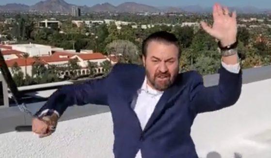 """Arizona Attorney General Mark Brnovich brandishes nunchucks in a recent video some critics labeled """"bizarre."""""""
