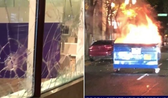 News crews reported that police in Portland, Oregon, sat in their cars and watched this week as rioters set fires and smashed windows. A police spokesman said his department has been handcuffed by state legislation forbidding them from using traditional crowd-control methods to disperse the vandals.