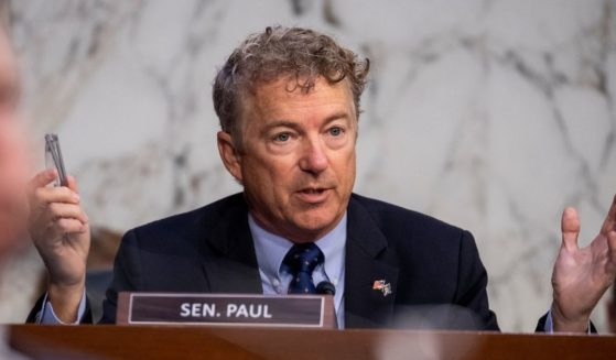 Republican Sen. Rand Paul of Kentucky delivers remarks to Secretary of Health and Human Services Xavier Becerra as he testifies during a Senate Health, Education, Labor and Pensions Committee hearing to discuss reopening schools during the COVID-19 pandemic on Capitol Hill on Thursday.