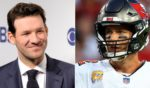 At left, CBS football analyst Tony Romo is seen during a media event at the Plaza Hotel in New York City on May 16, 2018. At right, Tampa Bay Buccaneers quarterback looks on in the third quarter against the Chicago Bears at Raymond James Stadium on Sunday.