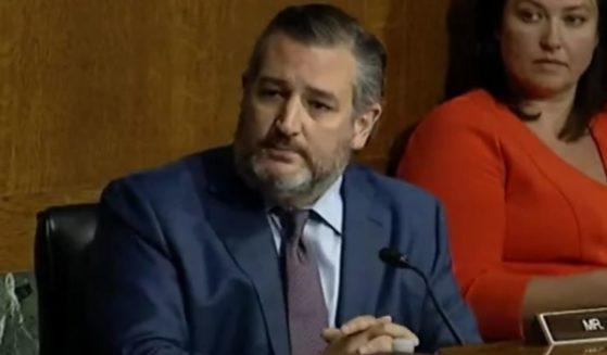 Republican Sen. Ted Cruz of Texas asks Attorney General Merrick Garland several questions during his testimony in front of the Senate Judiciary Committee on Wednesday.
