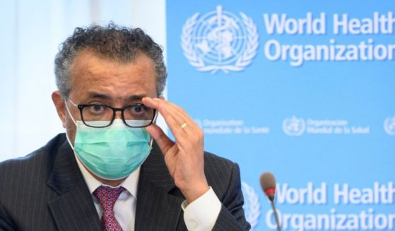 World Health Organization Director-General Tedros Adhanom Ghebreyesus speaks during a meeting in Geneva on May 24, 2021.