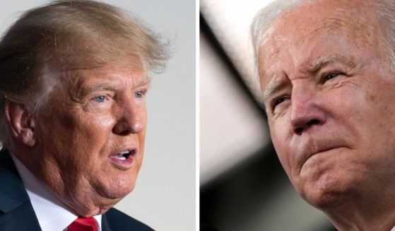President Joe Biden, right, is having to eat his words about former President Donald Trump's immigration policy. On the campaign trail, Biden attacked Trump's 'Remain in Mexico' policy and he abolished it the day he was inaugurated. Now, however, the Biden administration is quietly trying to reinstate the program.