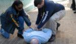 Deputy U.S. marshals make an arrest.