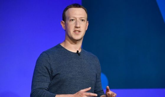 Facebook CEO Mark Zuckerberg speaks during a news conference in Paris on May 23, 2018.