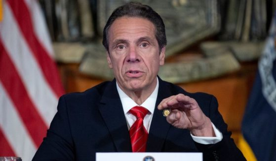 Then-Gov. Andrew Cuomo speaks during a news conference on May 1, 2020, in Albany, New York.
