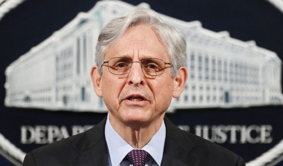 Attorney General Merrick Garland delivers a statement at the Department of Justice on April 26 in Washington, D.C.