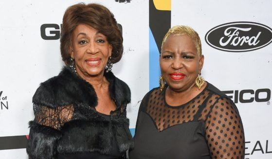 U.S. Rep. Maxine Waters and her daughter, Karen Waters, are pictured in a file photo from the Essence Celebrates Black Women in Hollywood event in Beverly Hills, California, in February 2019.