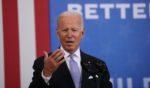 President Joe Biden speaks at an event Wednesday in Scranton, Pennsylvania, aimed at drumming up public support for the Democrats' multi-trillion spending agenda.