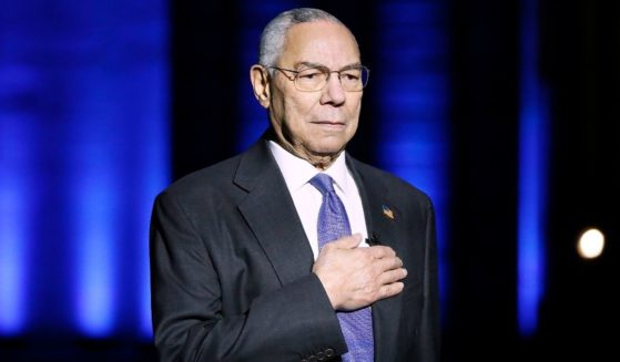 Gen. Colin Powell stands on stage during the Capital Concerts' 'National Memorial Day Concert' in Washington, D.C., on May 28.
