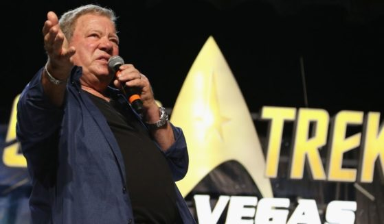 """William Shatner speaks at the """"William Shatner"""" panel during the 17th annual official Star Trek convention at the Rio Hotel & Casino in Las Vegas on Aug. 4, 2018."""