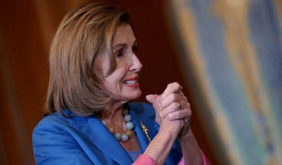 Speaker of the House Nancy Pelosi is seen speaking in Washington, D.C., on Thursday.