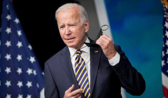 President Joe Biden arrives to speak at the South Court Auditorium on the White House campus in Washington, D.C., on Thursday.