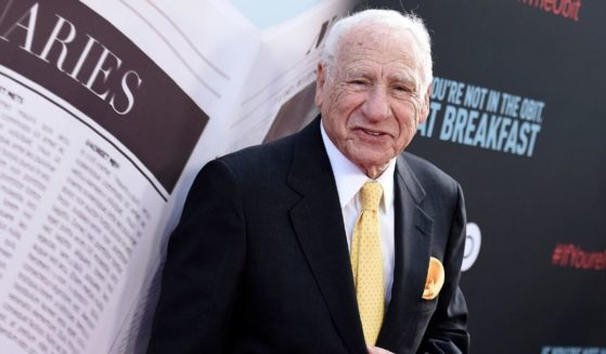 Mel Brooks attends the premiere of 'If You're Not In The Obit, Eat Breakfast' in Beverly Hills, California, on May 17, 2021.