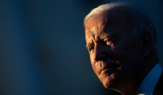 President Joe Biden stands on the South Lawn of the White House in Washington, D.C., on Friday.
