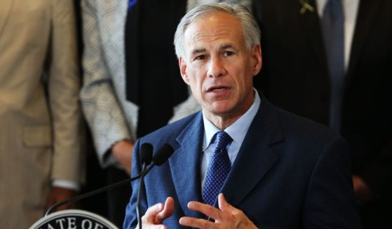 Republican Texas Gov. Greg Abbott speaks at Dallas' City Hall on July 8, 2016, in Dallas.