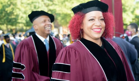 Author Nikole Hannah-Jones attends the 137th Commencement at Morehouse College in Atlanta on May 16.