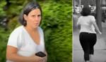 A woman identified as Vanessa Gelman, senior director of worldwide research, development and medical communications for Pfizer, runs away from Project Veritas reporter. James Lalino.