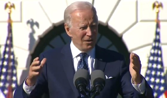 President Joe Biden pictured at a White House event on Monday.