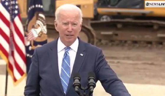 President Joe Biden speaks in Howell, Michigan, on Tuesday.