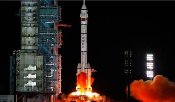 A Chinese satellite is launched Sunday from the Xichang Satellite Launch Center in southwest China.