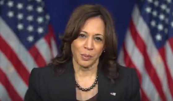 Vice President Kamala Harris picture in a campaign video that's intended to air in black churches in Virginia.