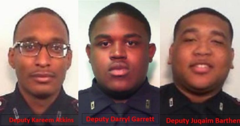 Officers involved in a Houston, Texas nightclub shooting on October 16, 2021.