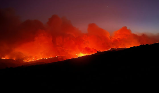 Wildfire near Moore Ranch on Oct. 12.